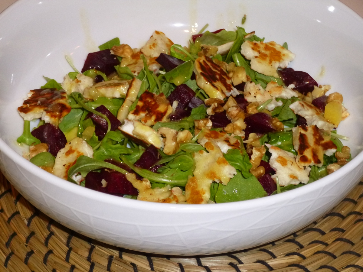 Halloumi, Roasted Beetroot and Rocket with a Lemon and Thyme ...