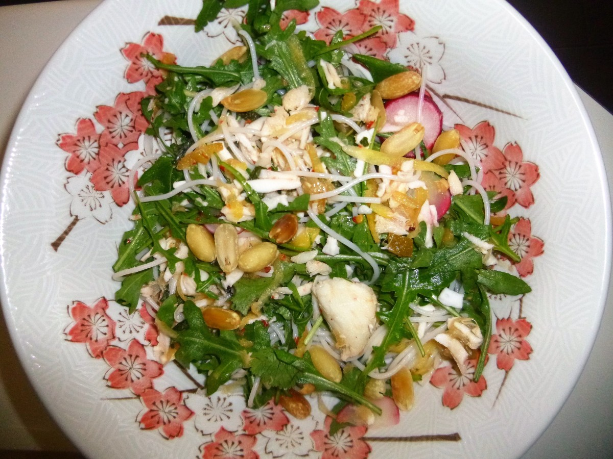 Crab, Coconut and Noodle Salad with a Sweet Chilli Dressing Recipe ...